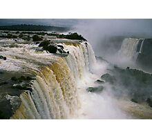 Iguassu Falls - Devils Throat aerial view - Brazilian side Photographic Print