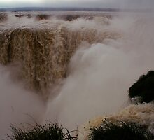 Iguassu Falls - Devil's Throat - Argentinian side by Derek  Rogers