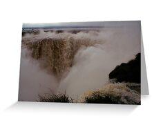 Iguassu Falls - Devil's Throat - Argentinian side Greeting Card