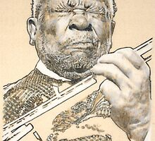BB King, 1925 - 2015. R.I.P. by Peter Brandt