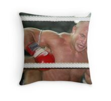 Kick from behind Throw Pillow