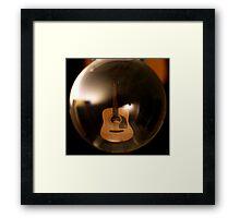 Bubble Guitar Framed Print