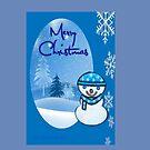 Snowman greetings by Ann12art