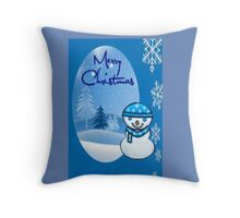 Snowman greetings Throw Pillow