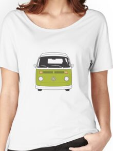Late Bay VW Camper Green Front Women's Relaxed Fit T-Shirt