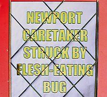 The Roaroring Welsh Press Newspaper Bill Board. by nawroski .
