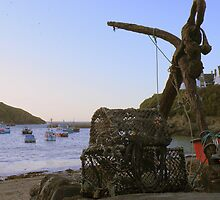 Cornwall: The Anchor and Some Pots at Port Isaac by Rob Parsons