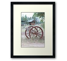 Rustic transportation Framed Print