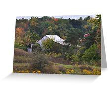 Barns Amid Autumn Trees Greeting Card