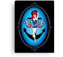 Anchor chick Canvas Print