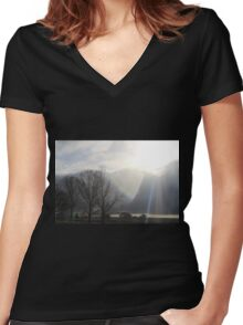 Angel Rays Women's Fitted V-Neck T-Shirt