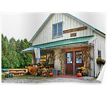 Primitive Country Barn Poster