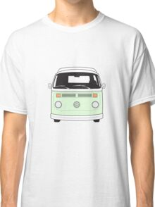 Late Bay VW Camper Pale Green Front Classic T-Shirt