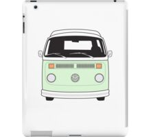 Late Bay VW Camper Pale Green Front iPad Case/Skin