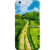 Green road iPhone Case/Skin