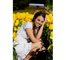 Amongst the Tulips #1 Photographic Print