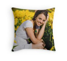 Amongst the Tulips #1 Throw Pillow