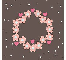 Daisy Wreath Photographic Print