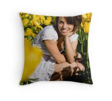 Amongst the Tulips #3 Throw Pillow