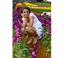 Amongst the Tulips #4 Photographic Print