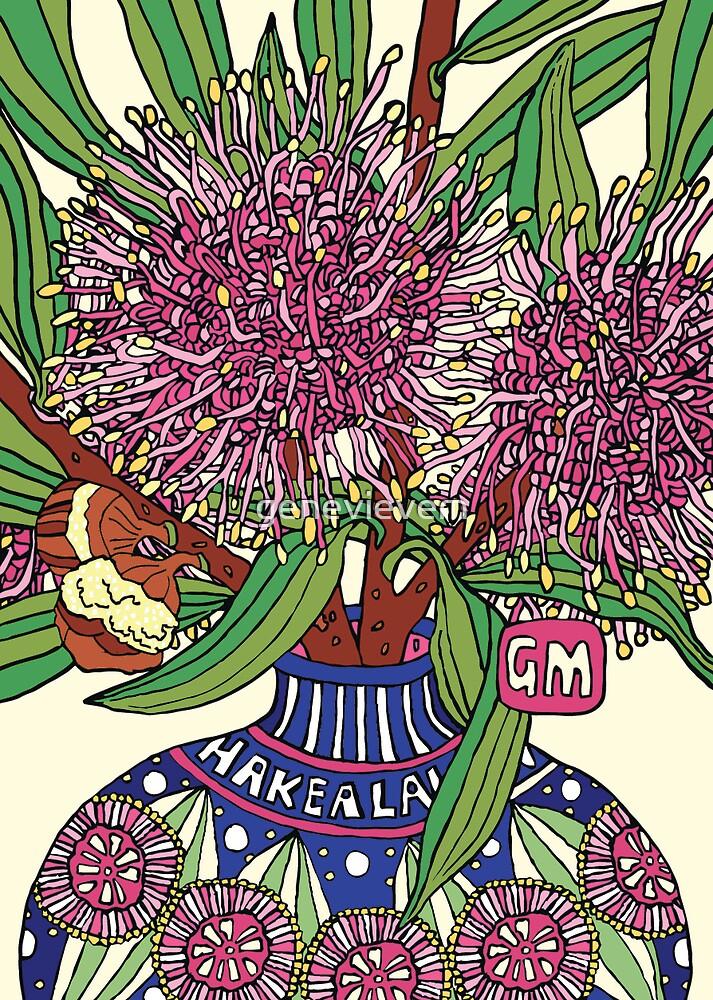 Bud Vase of Hakea Laurina by genevievem