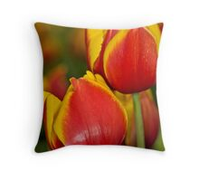 Delightful Tulips Throw Pillow