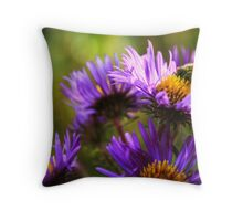 Bee + Flowers Throw Pillow