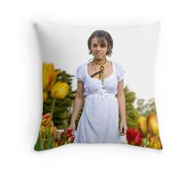 Tip-toe through the Tulips #2 Throw Pillow