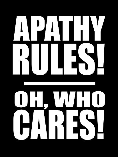 Apathy rules by Iain Maynard
