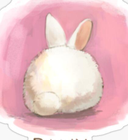 Bunny Butt Sticker