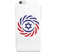 Israeli American Multinational Patriot Flag 1.0 iPhone Case/Skin