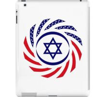Israeli American Multinational Patriot Flag 1.0 iPad Case/Skin