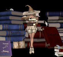 Febuary .. Witch with her spell books by LoneAngel