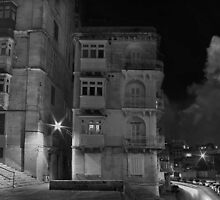 M'Mxett Valletta, Malta -- Night Light by Edwin  Catania