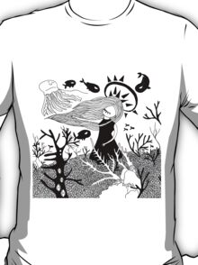 Misterious girl under the sea T-Shirt