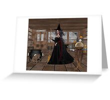 November .. A Witch in her spell shop  Greeting Card