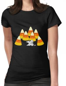 Candy Corn Mishap Womens Fitted T-Shirt