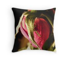 Death of a rose Throw Pillow