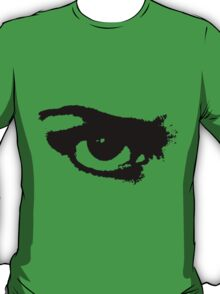 Black Painted Grunge Angry Eye T-Shirt