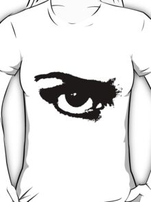 Black Painted Grunge Angry Eye T-Shirt