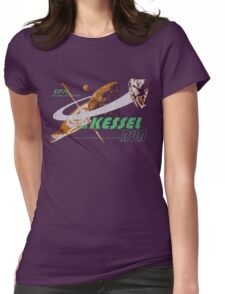 The Kessel Run (weathered) Womens Fitted T-Shirt