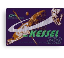The Kessel Run (weathered) Canvas Print