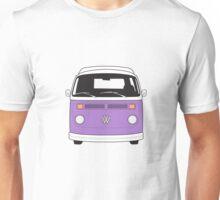 Late Bay VW Camper Purple Front Unisex T-Shirt