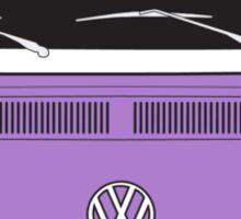 Late Bay VW Camper Purple Front Sticker