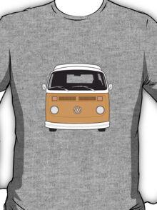 Late Bay VW Camper Orange Front T-Shirt