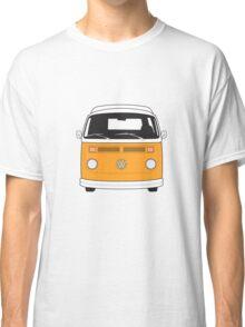 Late Bay VW Camper Orange Front Classic T-Shirt