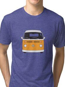 Late Bay VW Camper Orange Front Tri-blend T-Shirt