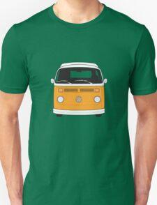 Late Bay VW Camper Orange Front Unisex T-Shirt