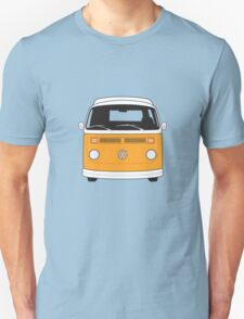 Late Bay VW Camper Orange Front Unisex T-Shirt