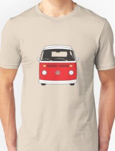 Late Bay VW Camper Red Front Unisex T-Shirt